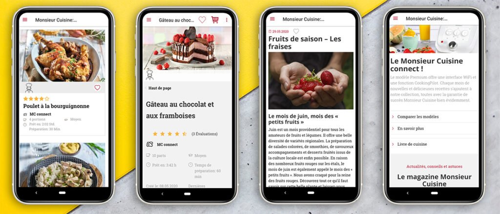 silvercrest monsieur cuisine application smartphone et tablette