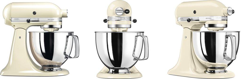 robot pâtissier kitchenaid artisan trois vues