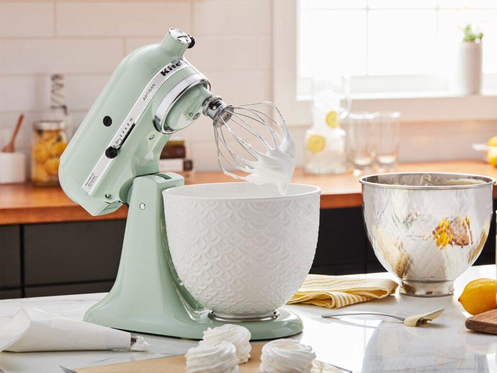 robot pâtissier kitchenaid artisan vert